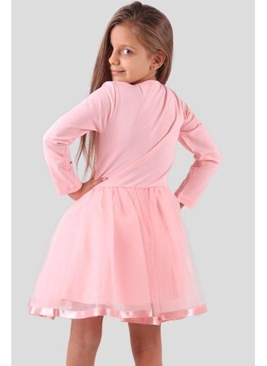 Breeze Kız Çocuk Elbise Pullu Somon